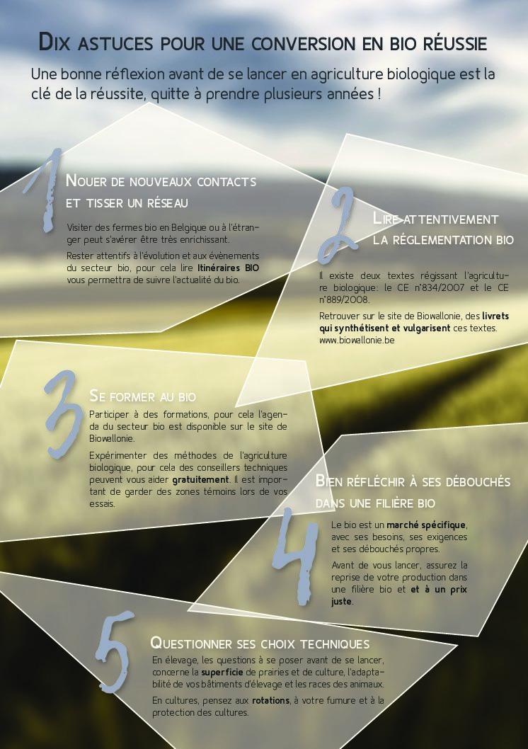 10 astuces pour une conversion bio réussie