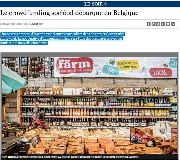 Le crowdfunding sociétal débarque en Belgique