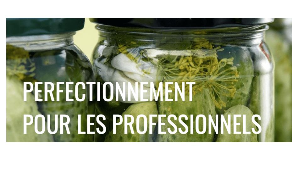 Perfectionnement pour les professionnels : transformation de mes légumes bio 23/09